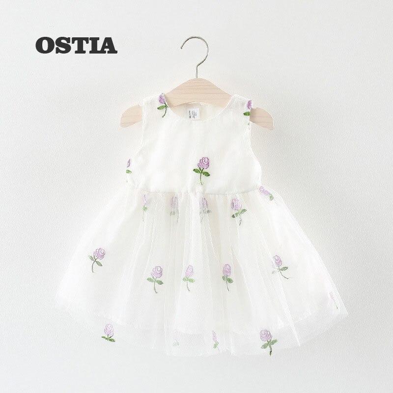 OSTIA Baby Girl Dress Baptism Dress for Girl Infant 0-2 Year Birthday Dress for Baby Girl Chirstening Dress for Infant D13