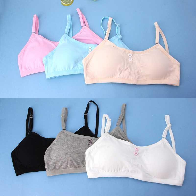 Kids Girls Cotton Bra Puberty Children Breathable Underwear Sports Training Bras
