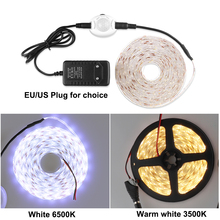 Auto ON/OFF IP65 Waterproof Flexible LED Tape DC12V Strip 2835 Motion Sensor Controller 1M 2M 3M 4M 5M Bed Light