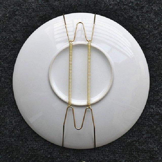 10 pcs 8-inch wall plate holder hanger plate pallets wall holder hanger for plate & 10 pcs 8 inch wall plate holder hanger plate pallets wall holder ...