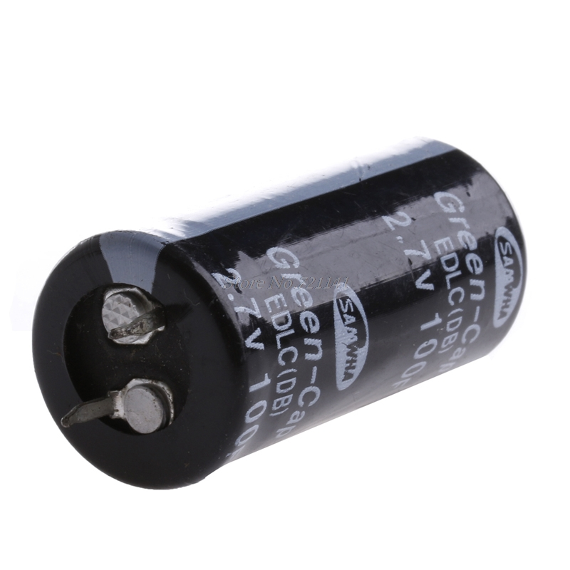 2Pcs Super Capacitor 2.7V 100F Ultra Capacitor Farad New Electrical Components Black Color Dropship