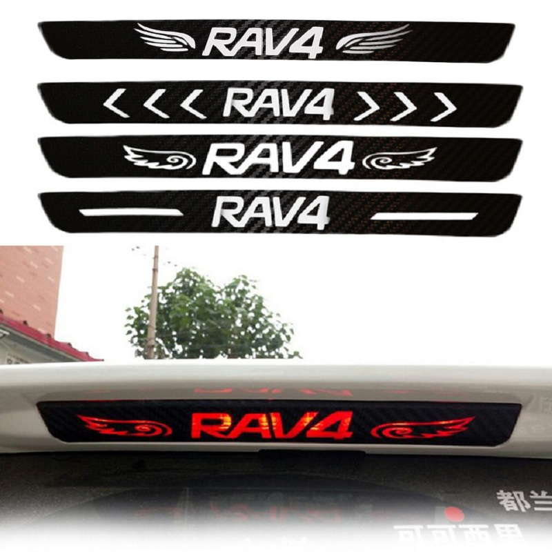 Car-styling 1Pc Car Rear Brake Light Dedicated Sticker Accessories Dedicated Carbon Fiber Sticker For Toyota Rav4