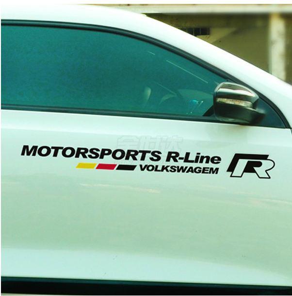 vw r motorsport r line emblem car stickers for passat b5. Black Bedroom Furniture Sets. Home Design Ideas