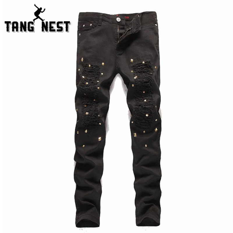 Selling 2017 Casual Fashion Jeans Men Solid Color Straight Jeans Homme ...