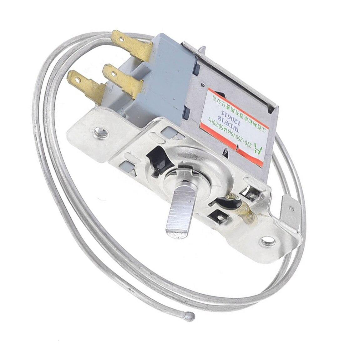 AC 220V-250V Volt 5(4)A 3-Pin 5.8mm Dia Shaft Refrigerator Thermostat  WDF18 Model 50/60Hz Refrigerator part