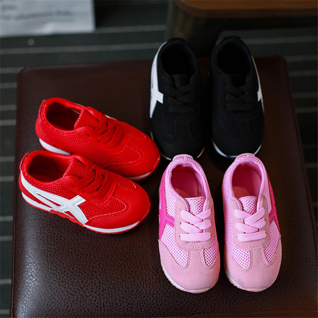 2017 Children Shoes Girls Boys Sport Shoes Antislip Soft Bottom Kids Baby Sneaker Casual Flat Sneakers Mesh Loafers Shoes