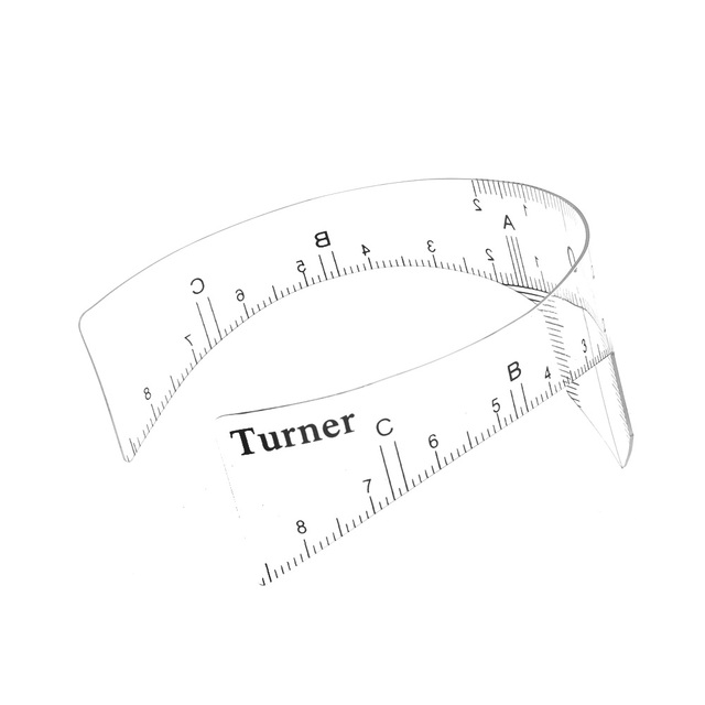 1PC NEW Reusable Eyebrow Grooming Stencil Shaper Ruler Measure Tool Makeup Reusable Eyebrow Ruler Tool Measures 3