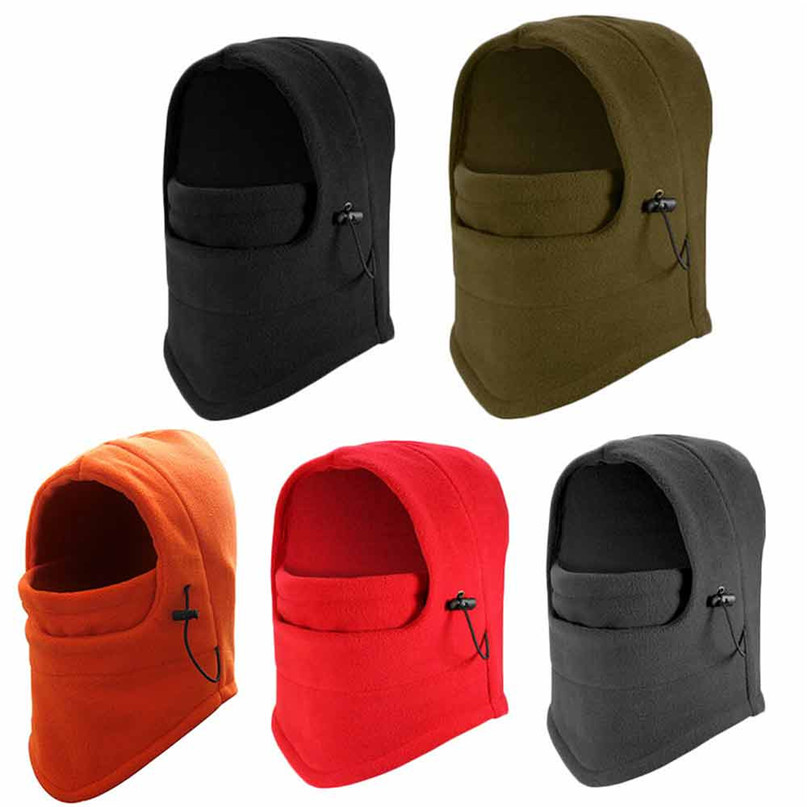 Winter Polar Premium Fleece Thermal Neck Warmer Half Face Mask Snowboard Bicycle Scarf Balaclava Headband Wool Black #2A20