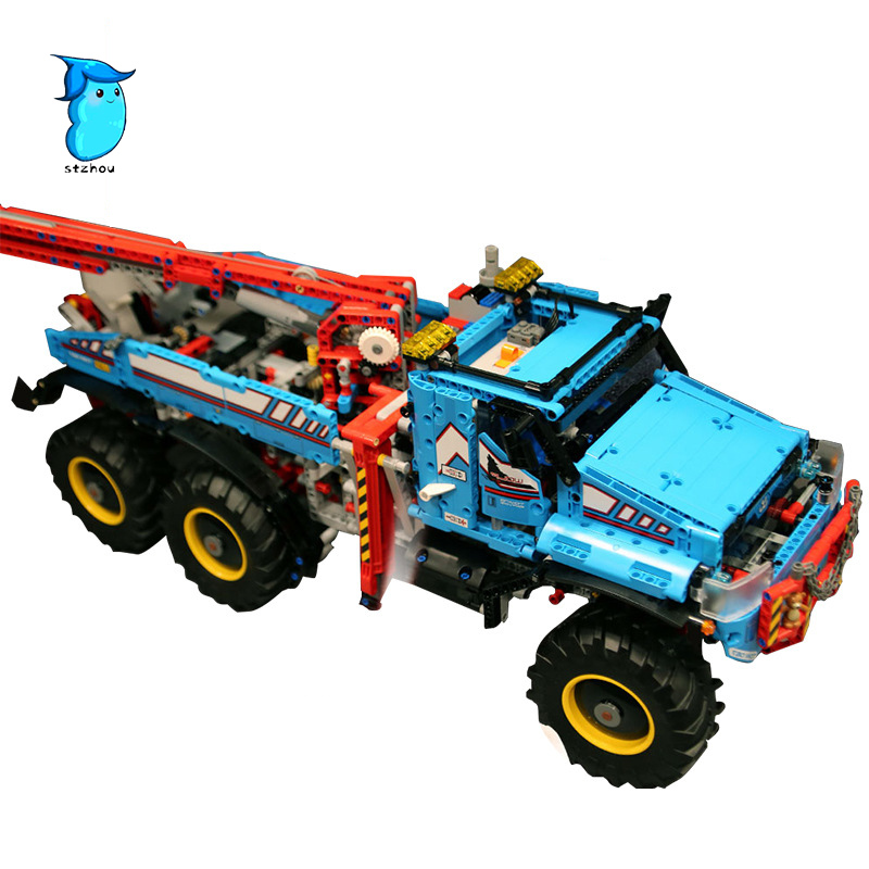 StZhou 1912pcs Lepin Technic the Ultimate All Terrain 6X6 Remote Control Truck Model Building Blocks Bricks Children Toy inov 8 сумка all terrain kitbag black