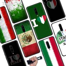 Italy flag Black Soft Case for Oneplus 7 Pro 7 6T 6 Silicone TPU Phone Cases Cover Coque Shell