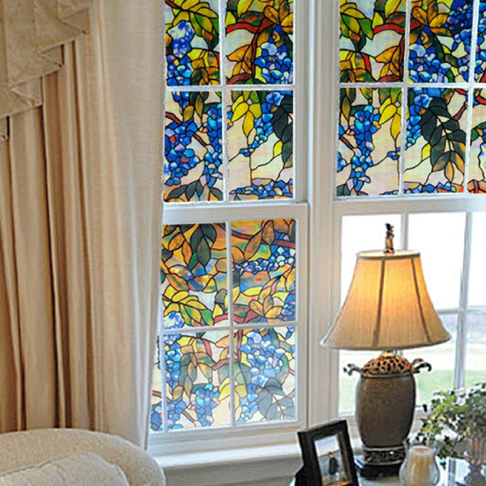 popular decorative window film stained glass-buy cheap decorative
