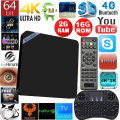 2016 Android 6.0 TV box Mini M8S II Amlogic S905X CPU 2G 8G 2G 16G Wifi BT4.0 4K H.265 media player Smart TV Set-top box PK T95N