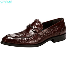 Fashion Mens Designer Shoes Oxford Genuine Leather Shoe Formal High Quality Crocodile Pattern Party Dress