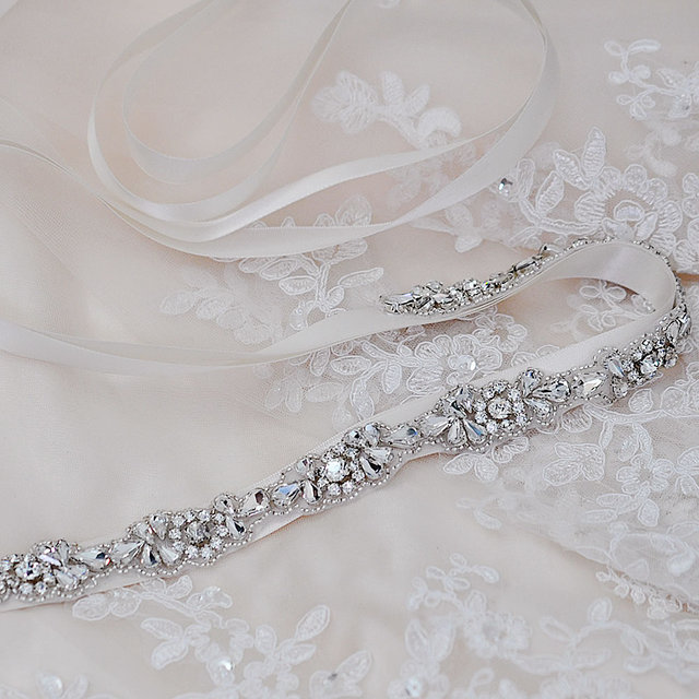 TOPQUEEN S235 Crystal Rhinestones Evening Party Prom Dresses Accessories Wedding Belt Sashes,Bride Waistband Bridal Sashes Belts