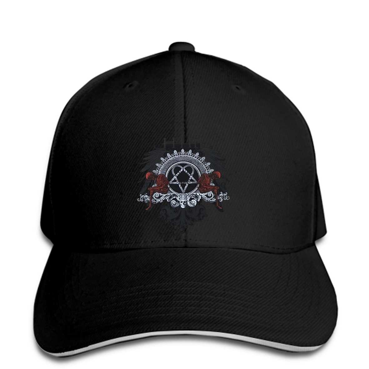 Men Baseball Cap His Infernal Majesty Heartagram and Skeleton Baseball Cap funny Baseball Cap novelty t women