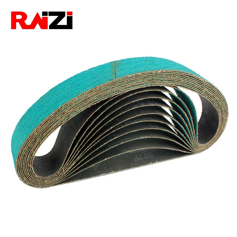 Raizi 3 Pieces Abrasive Zirconia Alumina Sanding Belt For Stainless Steel Sander/polisher 760* 40 Mm Grit P40-120