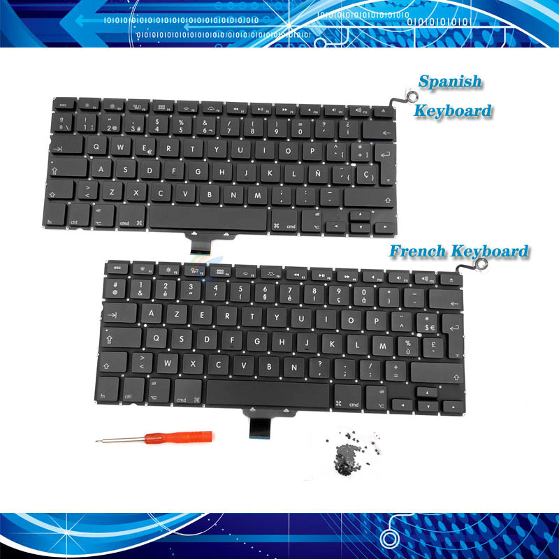 "Backlight Apple Macbook Pro A1278 13.3/"" Keyboard Teclado Espana Spain Spanish"