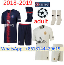 dbfaf1cf1 2018 2019 new psg soccer set with sock home away camisetas shirt  survetement man 18 19