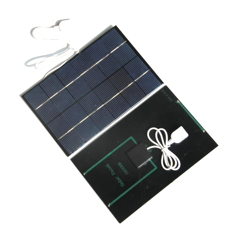 Top Deals 6V 4.2W Solar Panel Charger Polycrystalline Solar Cell Solar Mobile Charger Mobile Power Bank USB Output