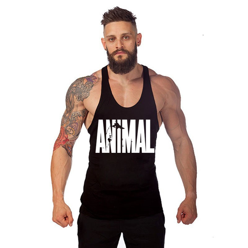 Animal Brand Clothing Workout Vest Gyms Back   Tank     Top   Men Bodybuilding Sleeveless Muscle   Tank     Top
