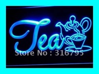 I094 B OPEN Tea Product Cafe Shops NR Neon Light Signs