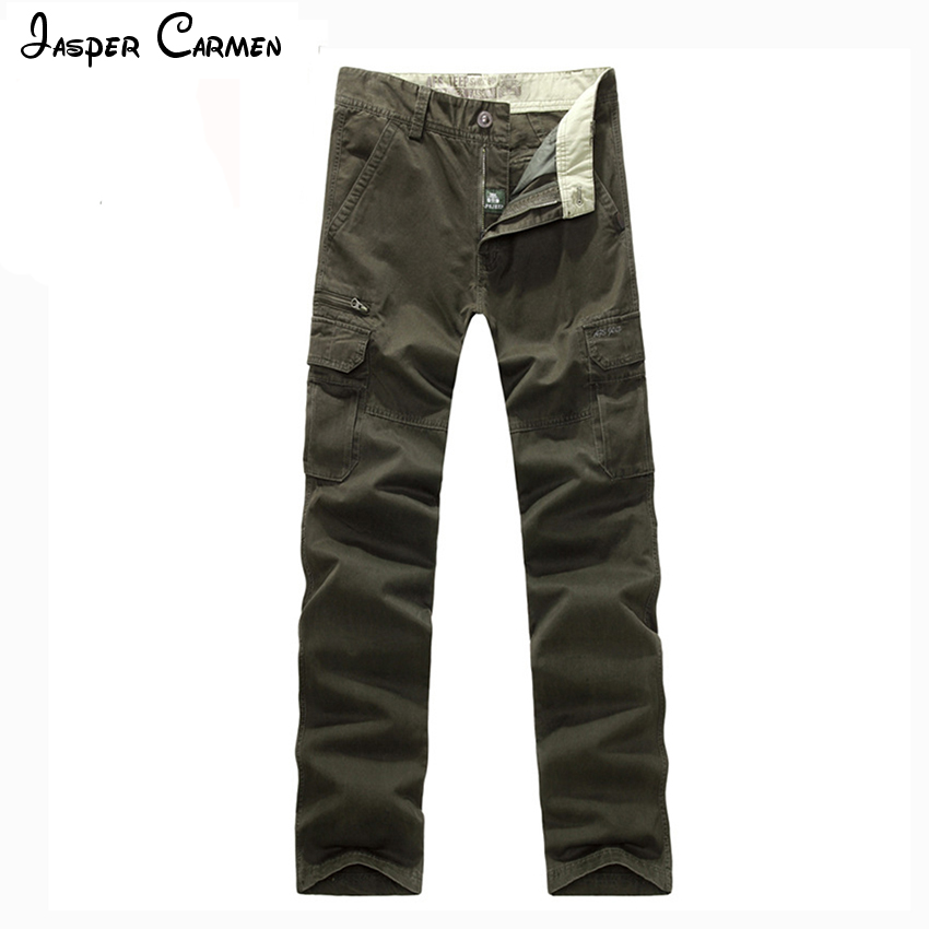 AFS JEEP Hot Sale Man Men's Cotton Combat Multi-Pockets Casual Loose Long Full Length Cargo Pants Work Trousers Large Size 98 T afs jeep winter men s long trousers mens straight jeans casual loose waistline autumn long trouser man male botton plus size 42
