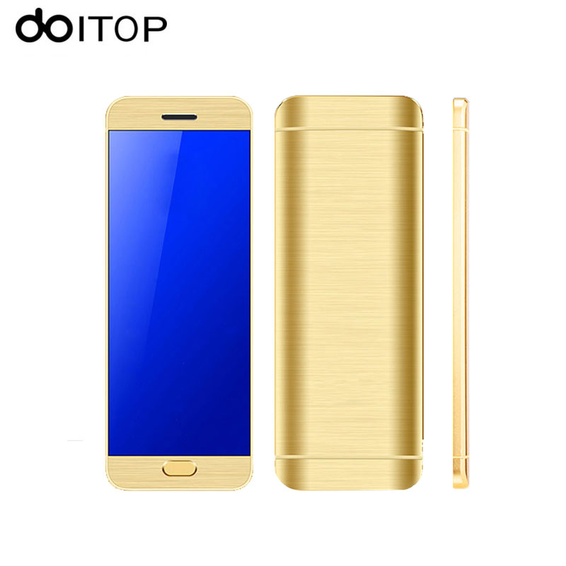 DOITOP Ultrathin Touch Screen MP4 Player Dual SIM Slot Bluetooth Dialer Luxury Card Mobile Phone MP3