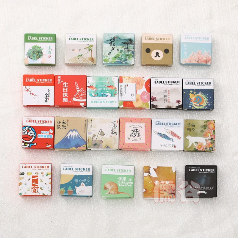 1 Box(40 Pcs) Kawaii DIY Animal Flower Pattern Stickers Scrapbooking Bullet Journal Stickers School Stationary Supplies 06469