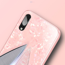 Luxury Tempered Glass Case For Huawei Marble Pattern Hard Back Cover