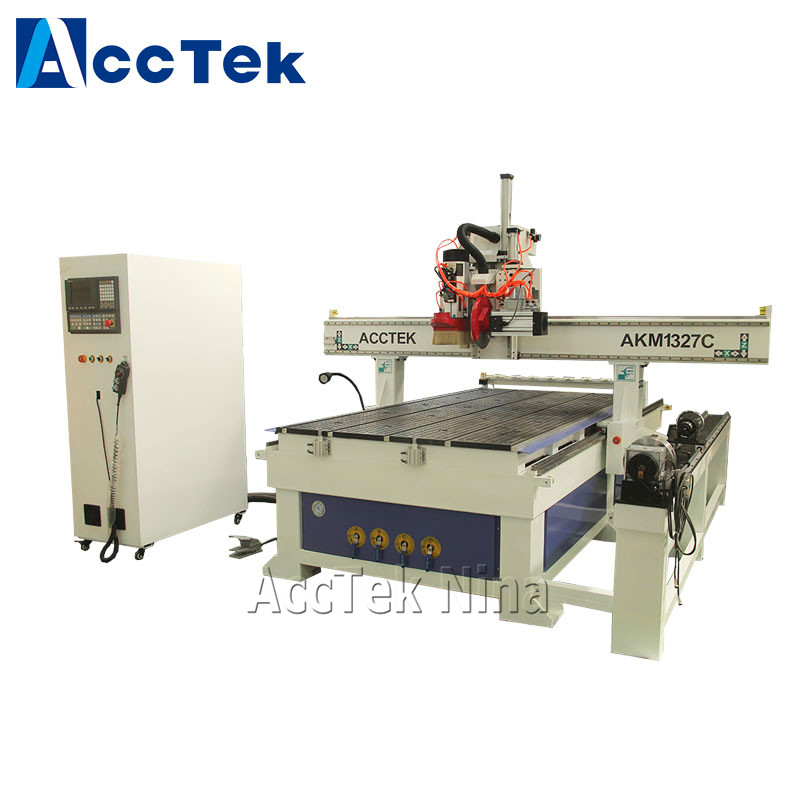 Professional Full Automatic Tool Changer CNC Carving Wood Cutting Machine With Rotary Axis