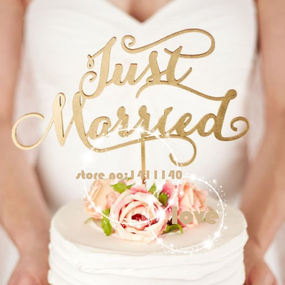 Just Married Rustikalen Hochzeitstorte Topper Engagement Holz