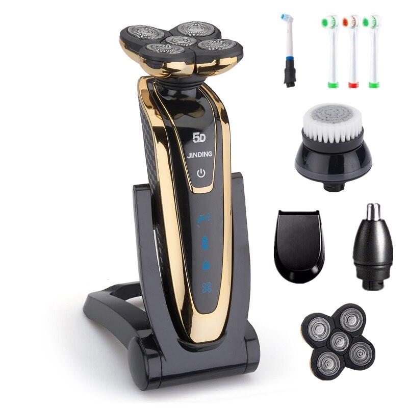 5D rasoir pour hommes rasoir électrique rasoir électrique Rechargeable hommes rasage Machine étanche barbe rasoir sans fil utilisation 35D