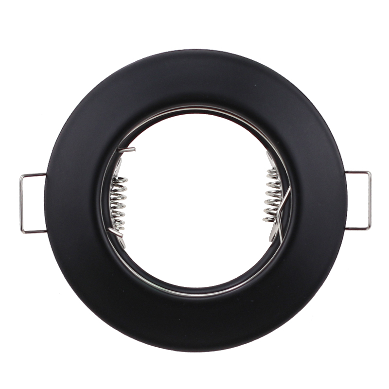 Round Metal Black Recessed LED Ceiling Light Frame MR16 GU10 Bulb Fixture Downlight Holder GU10 Spot Light Fitting For Housing