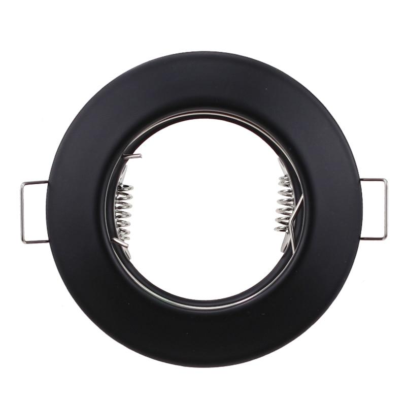 Round Metal Black Recessed LED Ceiling Light Frame MR16 GU10 Bulb Fixture Downlight Holder GU10 Spot Light Fitting For Housing
