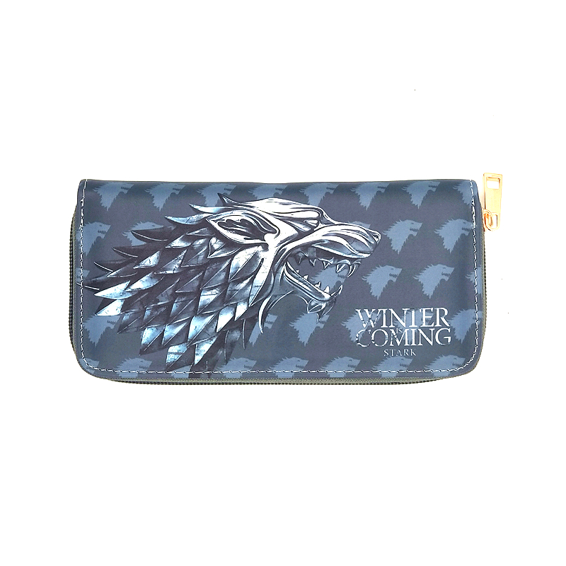 PU Leather game of throne Women Wallet Doctor Who Zipper Long Coin Purse Brand Designer Card Holder Cell Phone Money Bag
