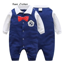 Baby Rompers Long Sleeve Baby Boy Gentleman Clothing Jumpsuits Children Autumn and Winter Newborn Baby Clothes Cotton