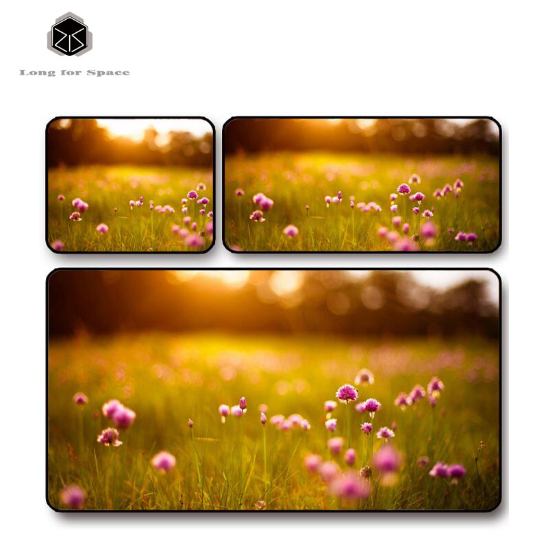 SJLUHS Beautiful Flower Plant Mouse Pad Edge Creative Large Thickening Game Keyboard Table Mat