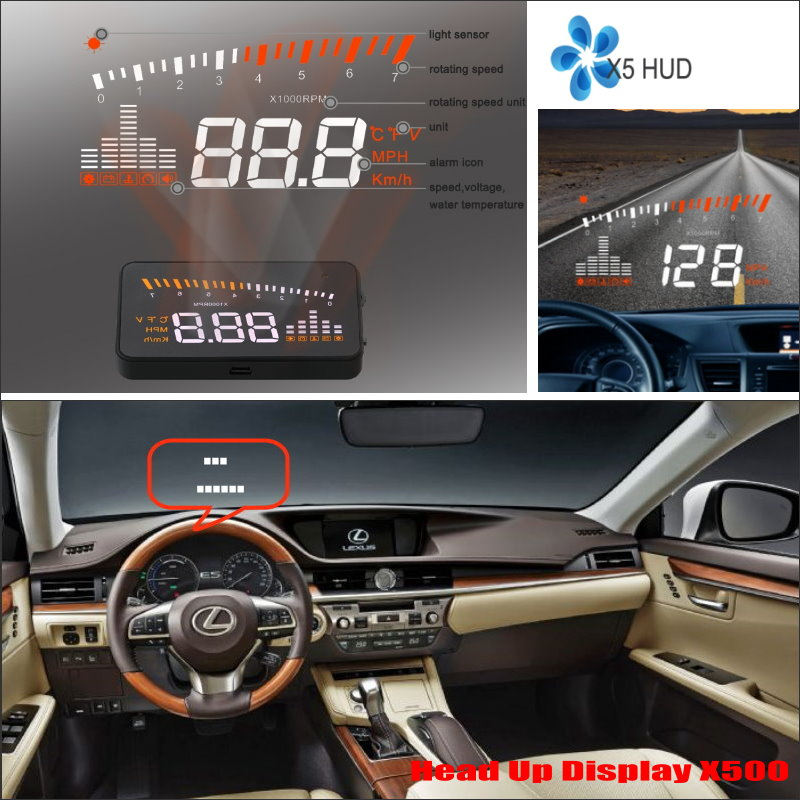 ФОТО For Lexus ES GS LS 2015 2016 Car Head Up Display Saft Driving Screen Projector - Refkecting Windshield