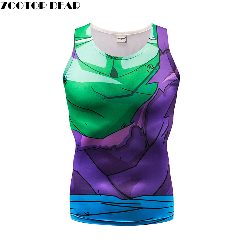 The dragon ball   Tank     Tops   Men Vest Female Dragon Ball singlet Anime   Tops  &Tees Fitness Tight Summer Hit Color 2018 ZOOTOP BEAR