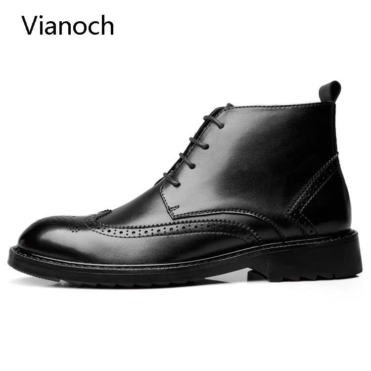 Mega Sale #997c Vianoch Fashion Mens Ankle Boots Lace Up