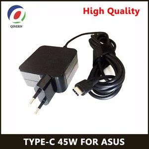 Image 1 - QINERN ab 20V 2.25A için 45W güç adaptörü şarj Asus Zenbook 3 Tablet tipi C Laptop adaptörü güç malzemeleri