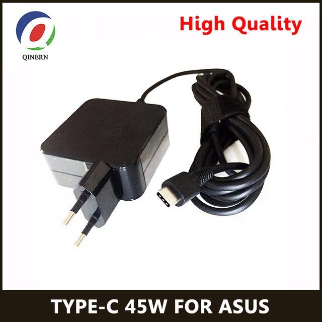 QINERN ab 20V 2.25A için 45W güç adaptörü şarj Asus Zenbook 3 Tablet tipi C Laptop adaptörü güç malzemeleri
