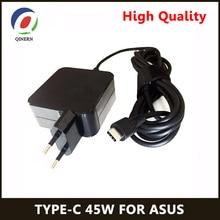 Qinern Eu 20V 2.25A 45W Power Adapter Oplader Voor Asus Zenbook 3 Tablet Type C Laptop Adapter levert