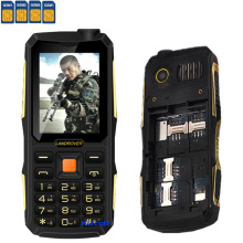 2017 Original Rugged Mobile phone 4 Sim Cards GSM Senior old man shockproof cell phone power bank  Long Standby Russian keyboard