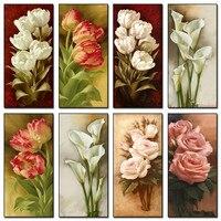 DIY 5D Full Circular Diamonds Embroidery Flowers Diamond Painting Cross Stitch Kits Rose Lily Diamond Mosaic