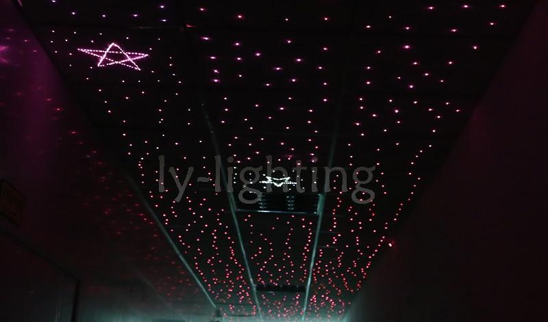DIY fiber optic light kit RGB led star light color change twinkle optical fiber ceiling light night light 25w dual output RGB diy fiber optic light kit rgb led star light color change twinkle optical fiber ceiling light night light 25w dual output rgb