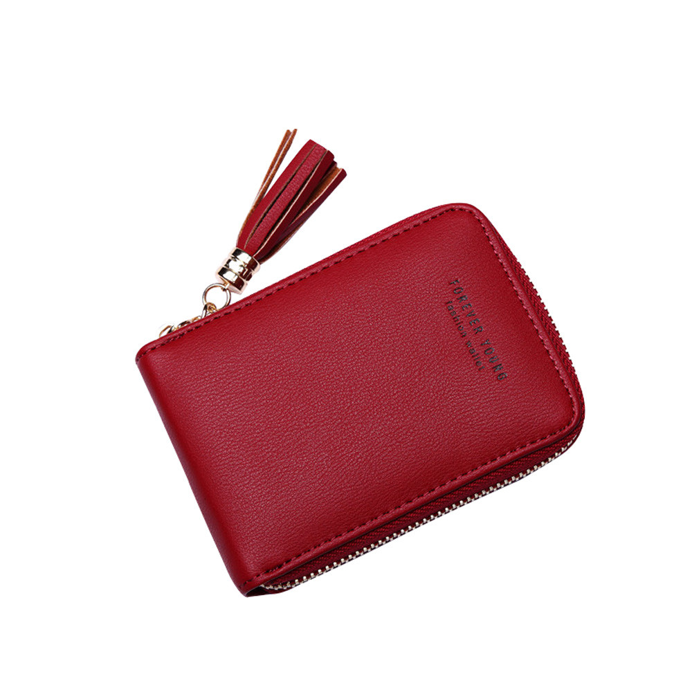 494b2f920 Xiniu RFID cartão saco tasse Carteira Borla Bolsa Pequena Carteira bolsa  das mulheres
