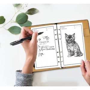 Image 3 - NEWYES A6 Black Leather Smart Reusable Erasable Notebook Microwave Wave Cloud Erase Paper Notepad Office School Supplies Gift