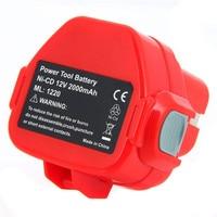 Rechargeable Battery for Makita 12V PA12 2000mAh Ni CD Replacement Power Tool Battery for Makita 1220 1222 1233S 1233SB