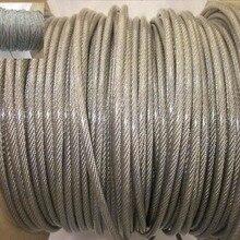 100 м/рулон Общий Диаметр 0,6 мм ПВХ пластиковое покрытие проволочный Канат из нержавеющей стали(0,5 мм трос с 0,05 мм толстым покрытием